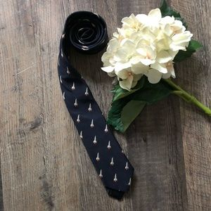 Men's J. Crew 100 % Silk Tie with Jet Design